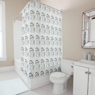 Rosen-Prallplatte Duschvorhang