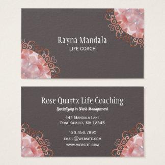 Rosen-Quarz2 Mandala des Leben-Zug-  Visitenkarte