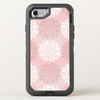 Rosen-Quarz-Chrysantheme Ombre Blumekimono-Rosa OtterBox Defender iPhone 8/7 Hülle