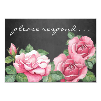 Rosen: Rosa Watercolor-Rosen UAWG Karte 8,9 X 12,7 Cm Einladungskarte