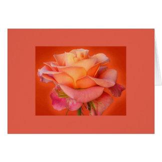 Rosen-rosarote Gruß-Karte für Ihren Schatz Grußkarte