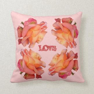 Rosen-rosarote Liebe-Kissen-Zuhause-Dekoration Kissen