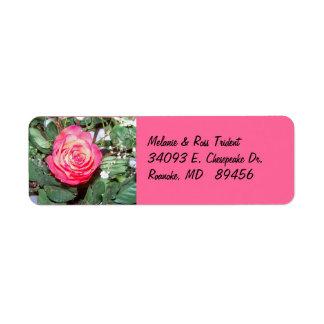 Rosen-Rücksendeadresse-Aufkleber