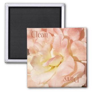 Rosen-sauberer schmutziger Spülmaschinen-Magnet Quadratischer Magnet