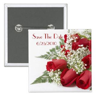 Rosen-Save the Date Knopf Anstecknadelbuttons