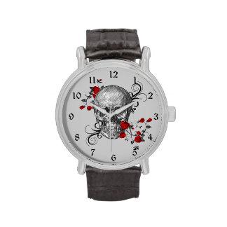 Rosen-Schädel-Uhr Uhren