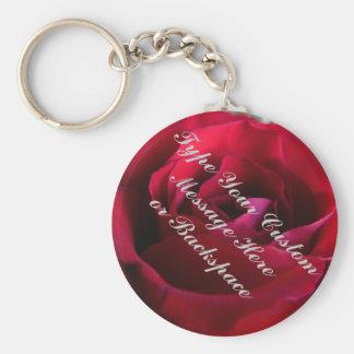 Rosen-Schlüsselketten-personalisierte Rote Rose Schlüsselanhänger