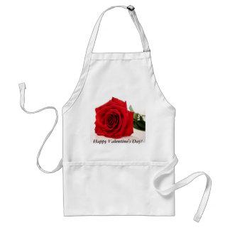 Rosen-Schürze des Valentines Tages Schürze