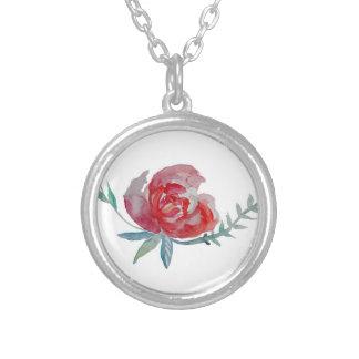 Rosen-Silber überzogen ringsum Halskette