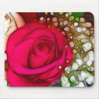 Rosen sind rotes rosa künstlerisches u. mauspads