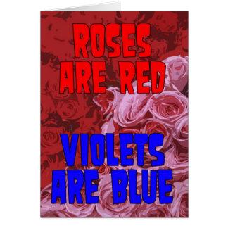 Rosen sind, Veilchen sind Blau adoptierte Karte