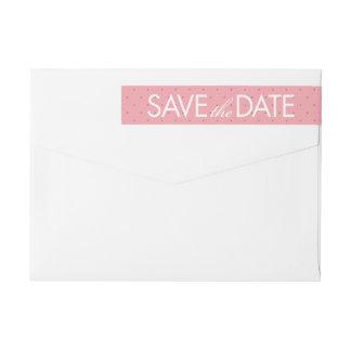 Rosen-Skizze-Save the Date Adressen-Etikett im Rundum-Adressaufkleber Für Rückversand