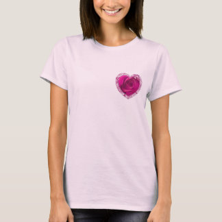 Rosen-Spitze-Herz - Damenherz-T - Shirt