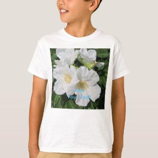 Rosen-Strand-Pflaumen-Weiß T-Shirt