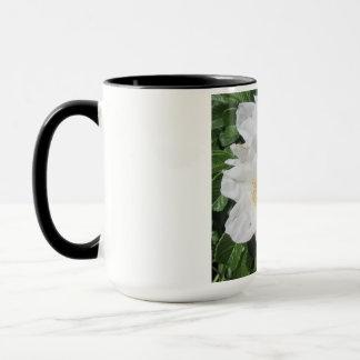 Rosen-Strand-Pflaumen-Weiß Tasse