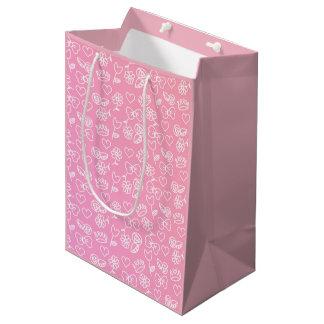 Rosen-symbolische Geschenk-Tasche Mittlere Geschenktüte
