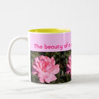 Rosen-Tasse Zweifarbige Tasse