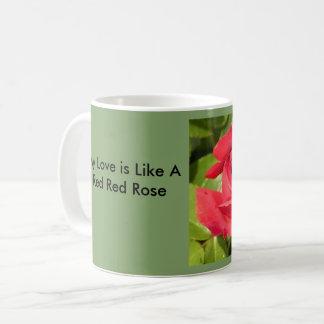Rosen-Tasse mit i-Liebe Sie Tasse