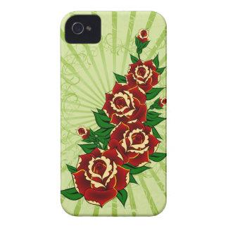 Rosen-Tätowierung iPhone 4 Case-Mate Hüllen