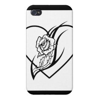 Rosen-Tätowierung iPhone 4 Schutzhüllen
