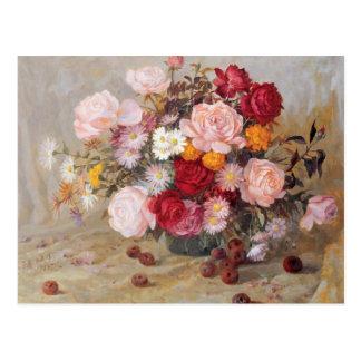 Rosen und Gänseblümchen Postkarte