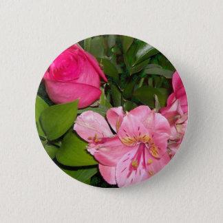 Rosen und Orchideen Runder Button 5,1 Cm