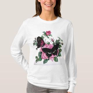 Rosen und Schmetterlinge T-Shirt