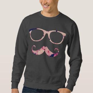 Rosen und Schnurrbart Sweatshirt