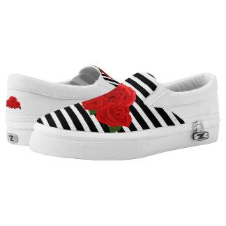 Rosen und Streifen Slip-On Sneaker
