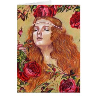 Rosen unter grußkarte