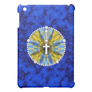 Rosenbeet-Traumfänger blau u. gelb iPad Mini Hülle