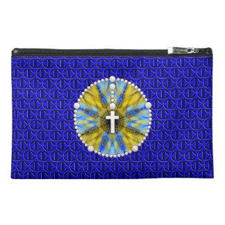 Rosenbeet-Traumfänger blau u. gelb Reisekulturtasche