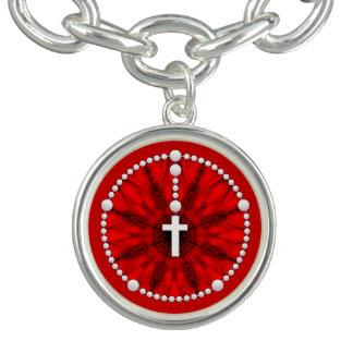 Rosenbeet-Traumfänger-Rot Charm Armband