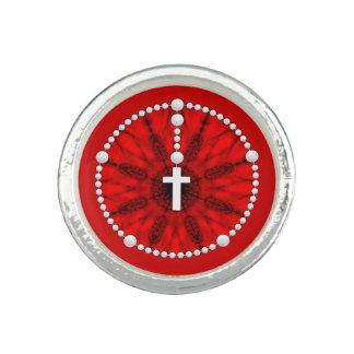 Rosenbeet-Traumfänger-Rot Ring