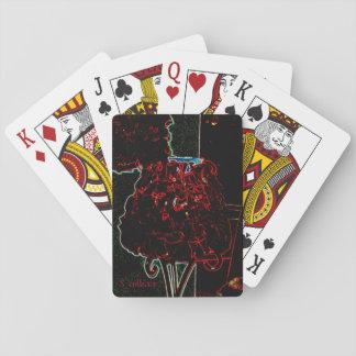 Rosenblumenblatt-Lampenkarte Spielkarten