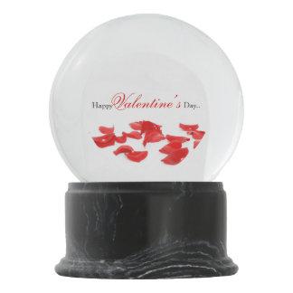 Rosenblumenblatt-Schnekugel Schneekugel
