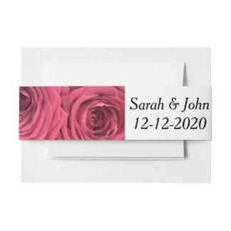 Rosenblumenhochzeits-Bauchband Einladungsbanderole
