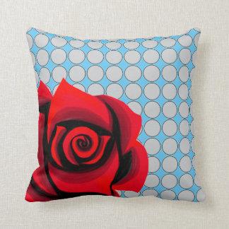 Rosenblumenpolka-Punktmuster Throw-Kissen Kissen