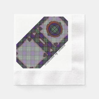 Rosenclan karierter schottischer Tartan Serviette