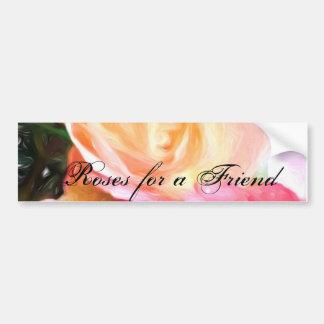 Rosenforen Freund-Gruß-Karten Autoaufkleber