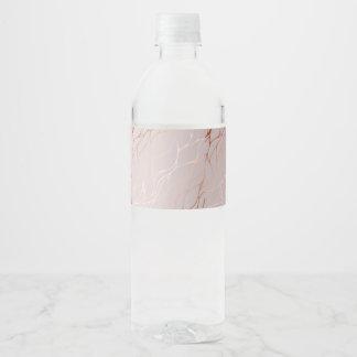 Rosengold, Welle, schön, weiblich, Chic, elegant, Wasserflaschenetikett