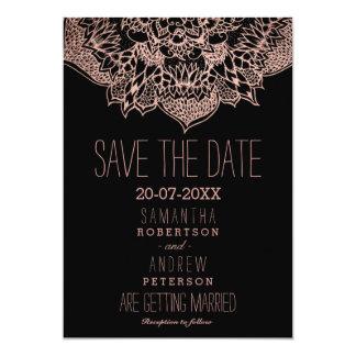 Rosengoldboho Blumenmandala Save the Date 12,7 X 17,8 Cm Einladungskarte