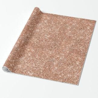 RosengoldGlitzer-Weihnachtsverpackungs-Papier Geschenkpapier