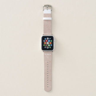 Rosengoldhexagon MONOGRAMM des Chic hoch Apple Watch Armband