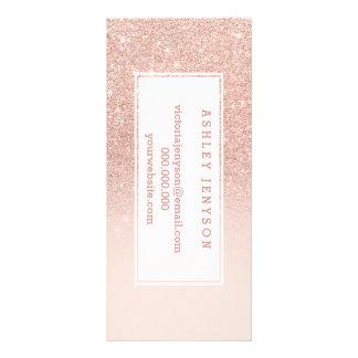 RosengoldImitat-Glitterrosa ombre Geschäftsdetails Karten Druck