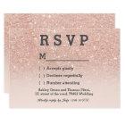 RosengoldImitat-Glitterrosa ombre UAWG wedding Karte