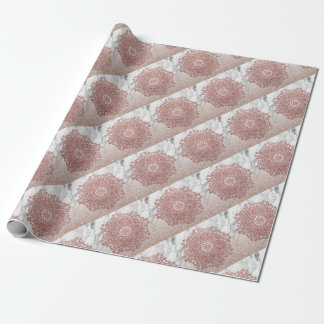 Rosengoldmandalamarmor-Glitter ombre Geschenkpapier