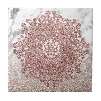 Rosengoldmandalamarmor-Glitter ombre Keramikfliese