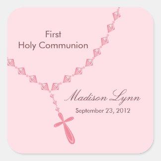 Rosenkranzperle-erstes heilige Kommunions-Rosa Bro Sticker