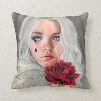 Rosenphantasie-Porträt KISSEN des hochroten Rotes